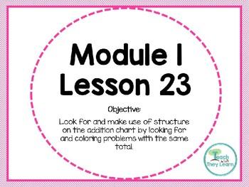 Engage NY Math SMART board 1st Grade Module 1 Lesson 23