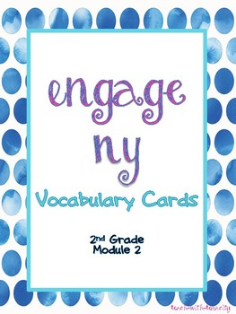 Engage NY Math Second Grade Module 2 Vocabulary Cards