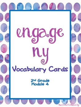 Engage NY/Eureka Math Second Grade Module 4 Vocabulary Cards