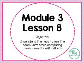 Engage NY Math Smart Board 1st Grade Module 3 Lesson 8