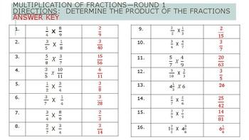 Engage NY Math Sprint Practice Grades 6-8