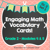 Engaging Math Vocabulary Cards 2.4,5
