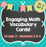 Engaging Math Vocabulary Cards 3.3 & 4