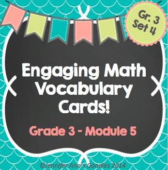 Engaging Math Vocabulary Cards 3.5
