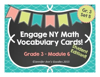 Engaging Math Vocabulary Cards 3.6: Student Edition!