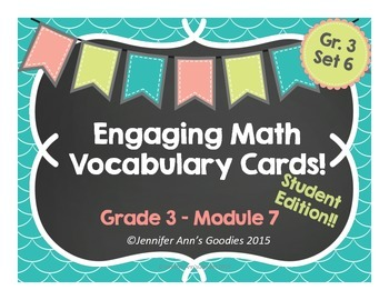Engaging Math Vocabulary Cards 3.7: Student Edition!