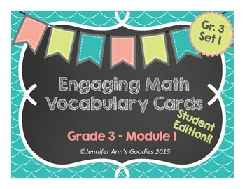 Engaging Math Vocabulary Cards 3.1: Student Edition!