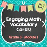 Engaging Math Vocabulary Cards Set 3.1