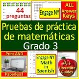 3rd Grade Engage NY Math in Spanish: Pruebas de práctica de matemáticas Grado 3