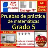 5th Grade Engage NY Math in Spanish: Pruebas de práctica de matemáticas Grado 5