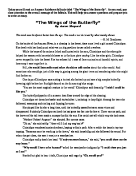 Narrative Writing with 1 text, 5 multiple choice part A & B, writing to folktale