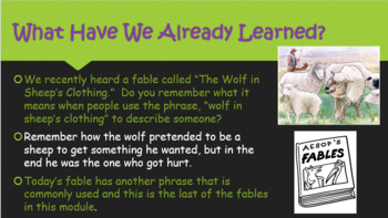 BUNDLE - Engage NY:  Module 1 - Fables and Stories: Lessons 1-10