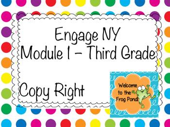 Eureka Math / Engage NY Module 1 Grade 3 Lessons 1-21