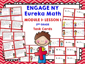 Engage NY Eureka Math Module 1 Lesson 1 - Math Centers - Task Cards - Scoot Game