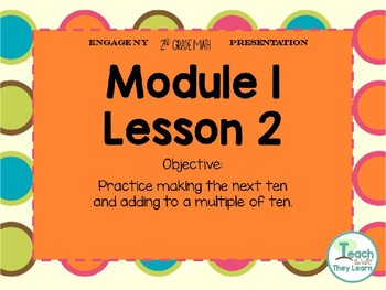 Engage NY Math Smart Board 2nd Grade Module 1 Lesson 2