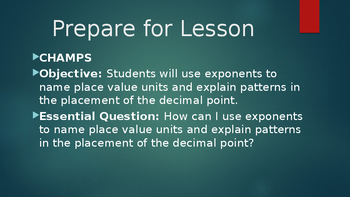 Duval Math, Engage NY, Eureka Math Module 1 Lesson 4 Grade 5