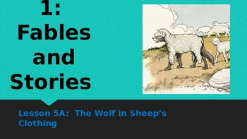 Engage NY:  Module 1 - Lesson 5A: The Wolf in Sheep's Clothing