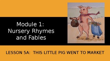 Engage NY:  Module 1 - Lesson 5A: This Little Pig Went to Market