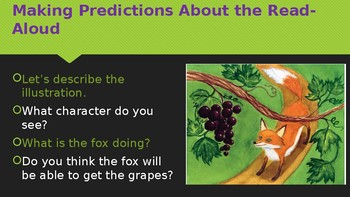 Engage NY:  Module 1 - Lesson 6A:  The Fox and the Grapes