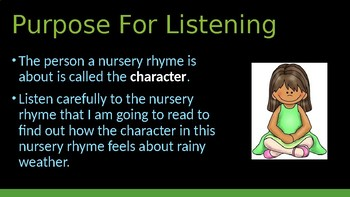 Engage NY:  Module 1 - Nursery Rhymes and Fables - Lesson 2A: Rain, Rain Go Away