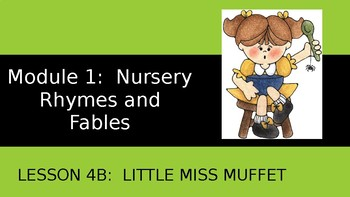 Engage NY:  Module 1 - Nursery Rhymes and Fables - Lesson 4B: Little Miss Muffet