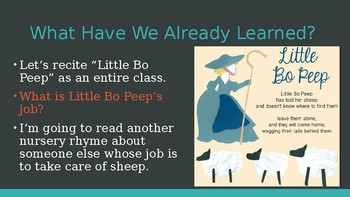 Engage NY:  Module 1 - Nursery Rhymes and Fables - Lesson 8B:  Little Boy Blue