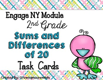 Engage NY Module 1 Math Task Cards 2nd Grade