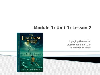Engage NY Module 1 Unit 1 Lesson 2 The Lightning Thief