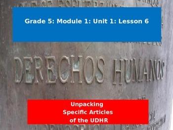 Engage NY Module 1 Unit 1 Lesson 6: Unpacking Specific Art