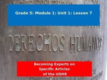 Engage NY Module 1 Unit 1 Lesson 7
