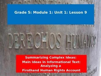 Engage NY Module 1 Unit 1 Lesson 9