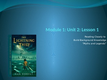 Engage NY Module 1 Unit 2 Lesson 1 The Lightning Thief