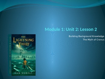 Engage NY Module 1 Unit 2 Lesson 2 The Lightning Thief
