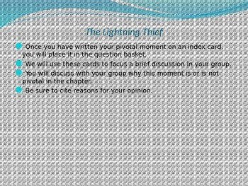 Engage NY Module 1 Unit 2 Lesson 4 The Lightning Thief