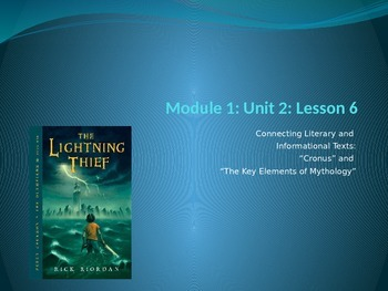 Engage NY Module 1 Unit 2 Lesson 6 The Lightning Thief