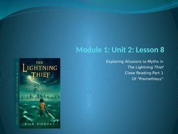 Engage NY Module 1 Unit 2 Lesson 8 The Lightning Thief