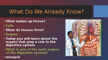 Engage NY:  Module 10 - The Human Body - Lesson 5A:  The Digestive System