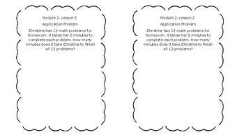 Engage NY Module 2 Application Problems and Exit Tickets
