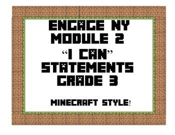 Engage NY Math Module 2 Third Grade I Can Statements