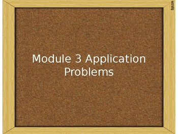 Engage NY Module 3 Application Problems - Grade 2