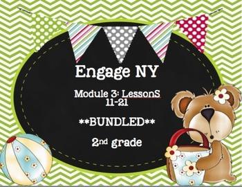 Engage NY  Module 3 Lesson 11-21   BUNDLED -Math Centers - Task Cards