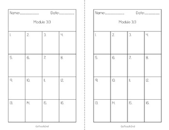 Engage NY/ Eureka Math -  Module 3  Lesson 13 Math Centers - Task Cards