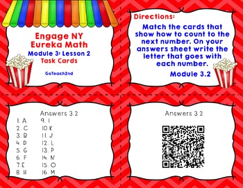 Engage NY/Eureka Math  Module 3  Lesson 2 Task Cards- Math Center