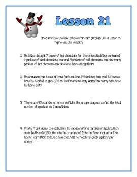 Engage NY Module 3- Lesson 21 Activity Sheet