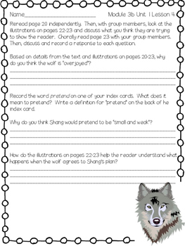 Engage NY ELA Grade 3, Module 3b Unit 1, Wolves 3rd Grade