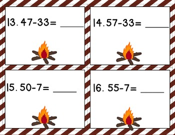 Engage NY/ Eureka Math Module 4 Lesson 11 -Math Centers - Task Cards- Scoot Game