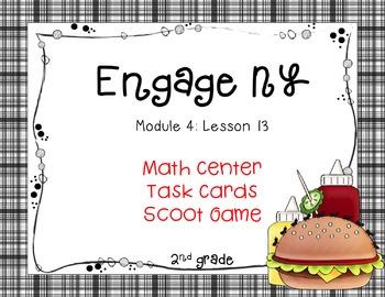 Engage NY/Eureka Math Module 4 Lesson 13 - Math Centers - Task Cards
