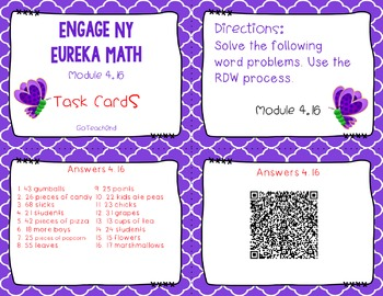 Engage NY/Eureka Math Module 4 Lesson 16 - Math Centers -Task Cards - Scoot Game