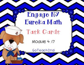 Engage NY/Eureka Math Module 4 Lesson 17 - Math Centers -Task Cards - Scoot Game