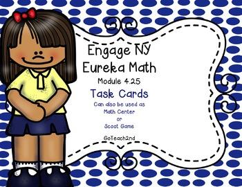 Engage NY Eureka Math Module 4 Lesson 25  Math Centers - Task Cards - Scoot Game